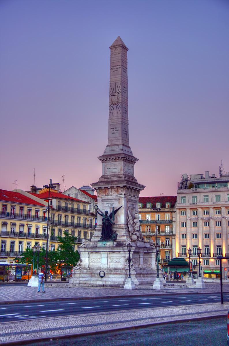 Plaça restauradores, Lisboa, en HDR