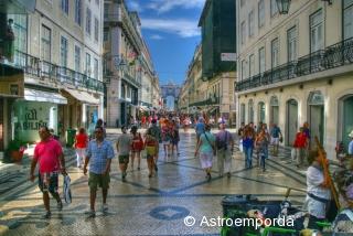 Rua Augusta, Lisboa, en HDR