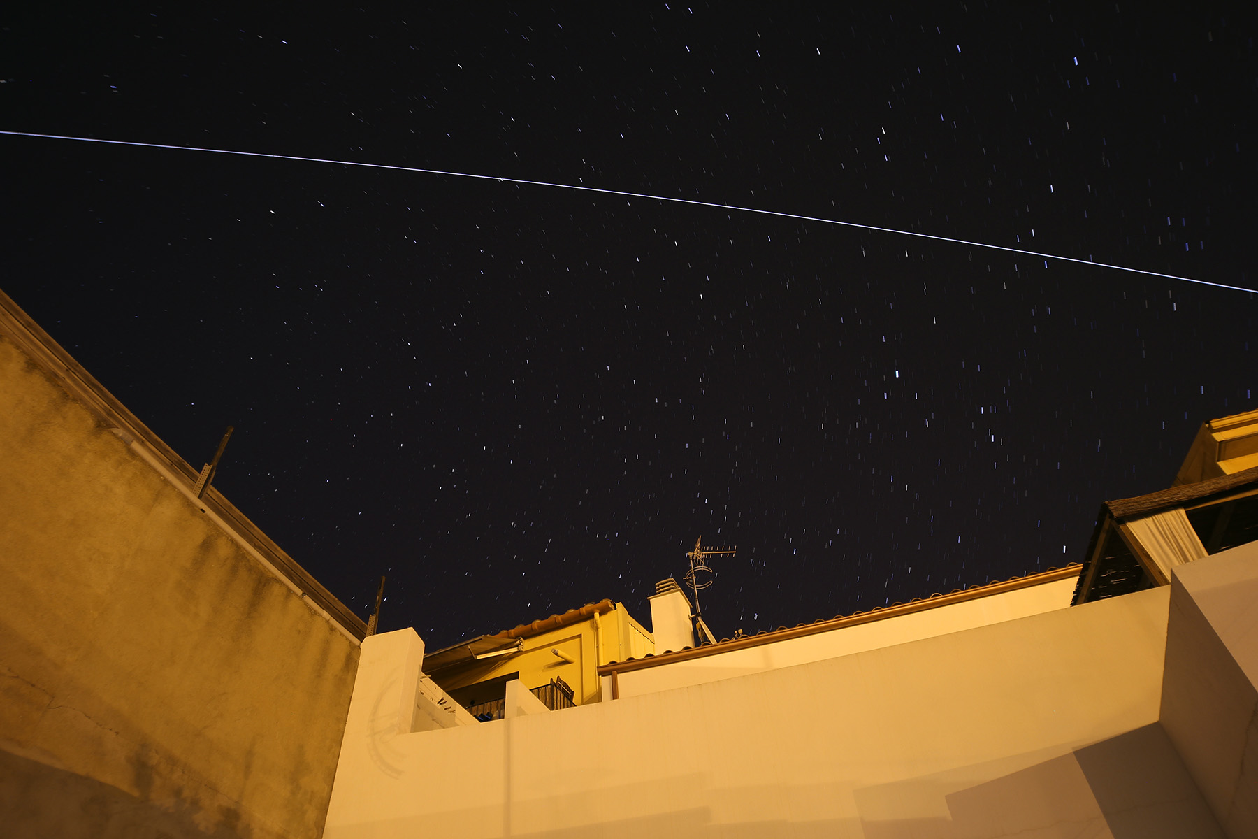 ISS a magnitud -3 sobre Palafrugell