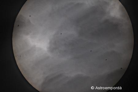 Trànsit ISS pel sol