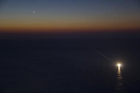 Conjunció venus - júpiter des del Far 1