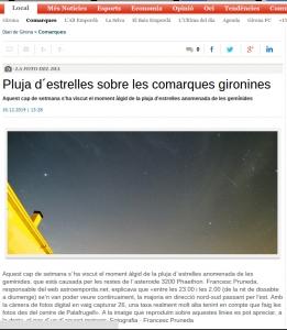 Gemínides a Diari de Girona