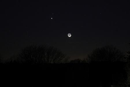 Venus i mart, amb la lluna