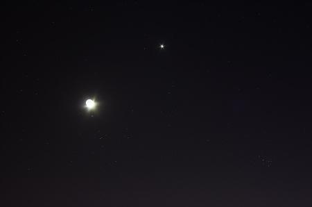 Lluna, venus, les plèiades i les Hyades