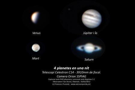 4 planetes en una nit