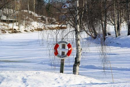 Un salvavides a un riu gelat?