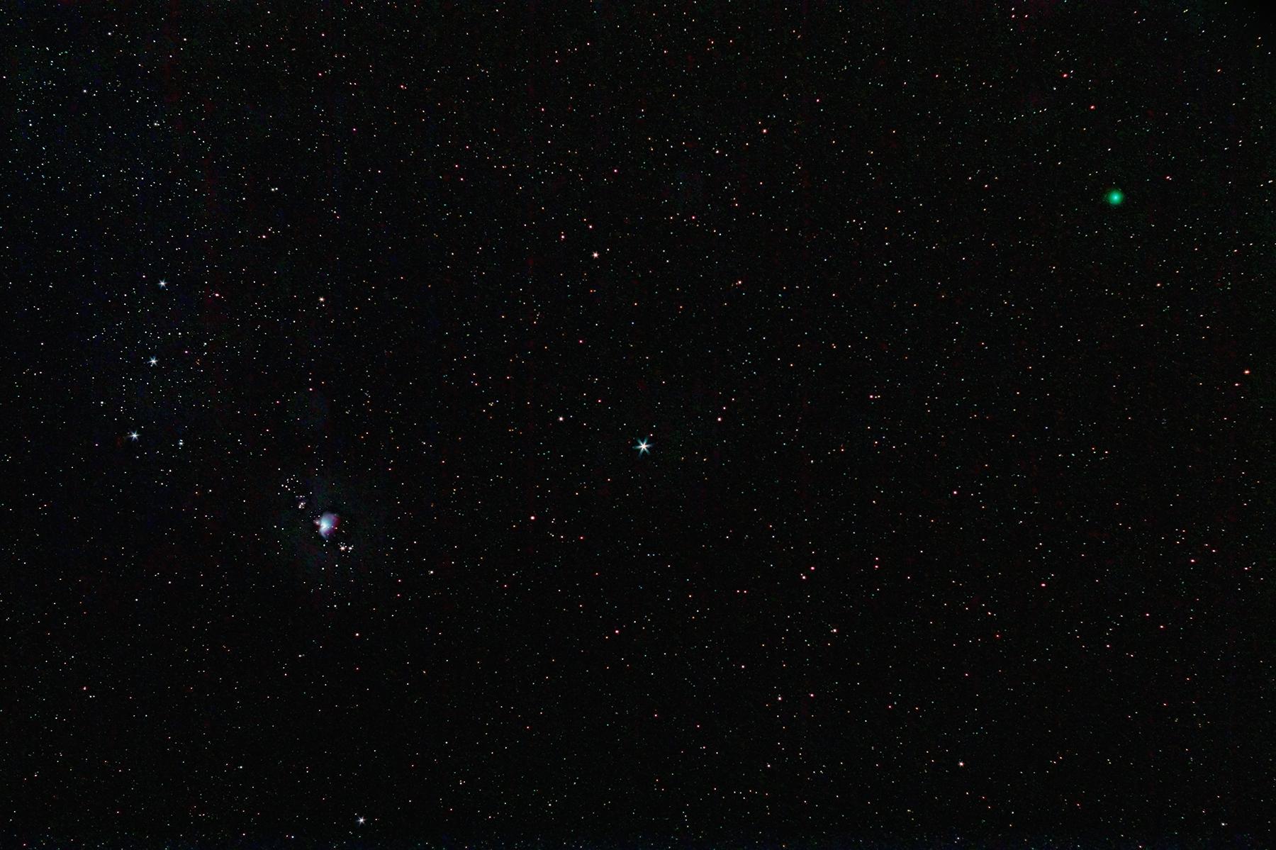 Cometa Lovejoy al costat d\'Orió