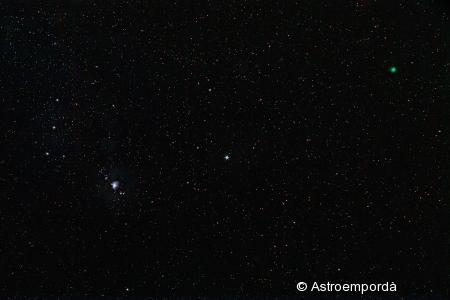 Cometa Lovejoy al costat d'Orió