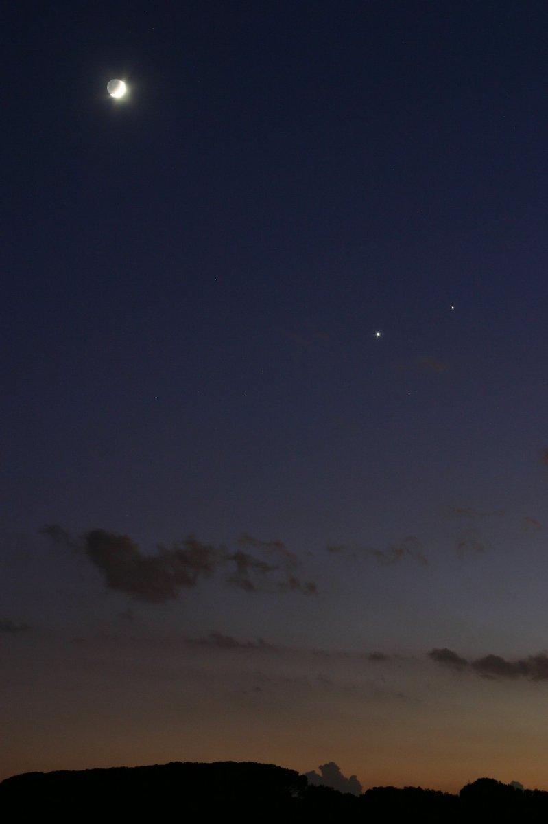 Post - conjunció Venus - Lluna - Júpiter