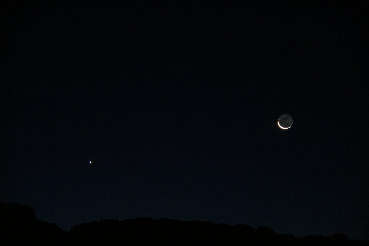 Conjunció Saturn - Venus - la Lluna