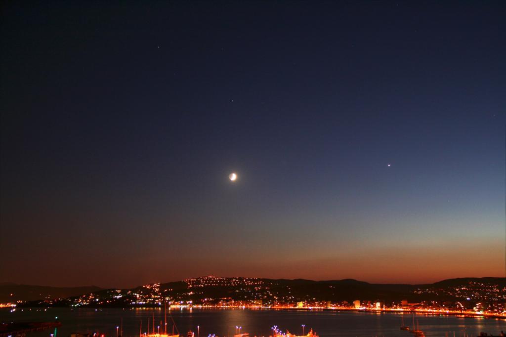 Venus, Mart i Saturn amb la Lluna