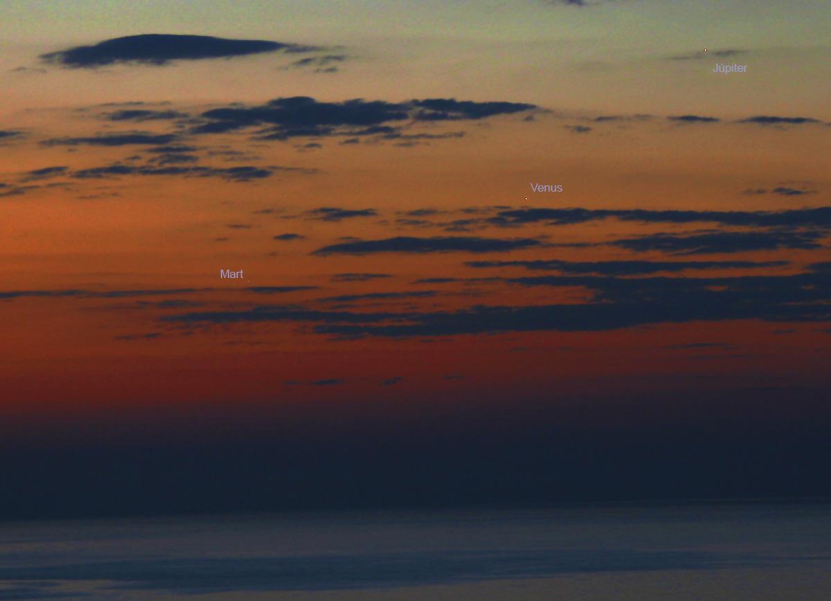 Conjunció Mart - Júpiter - Venus
