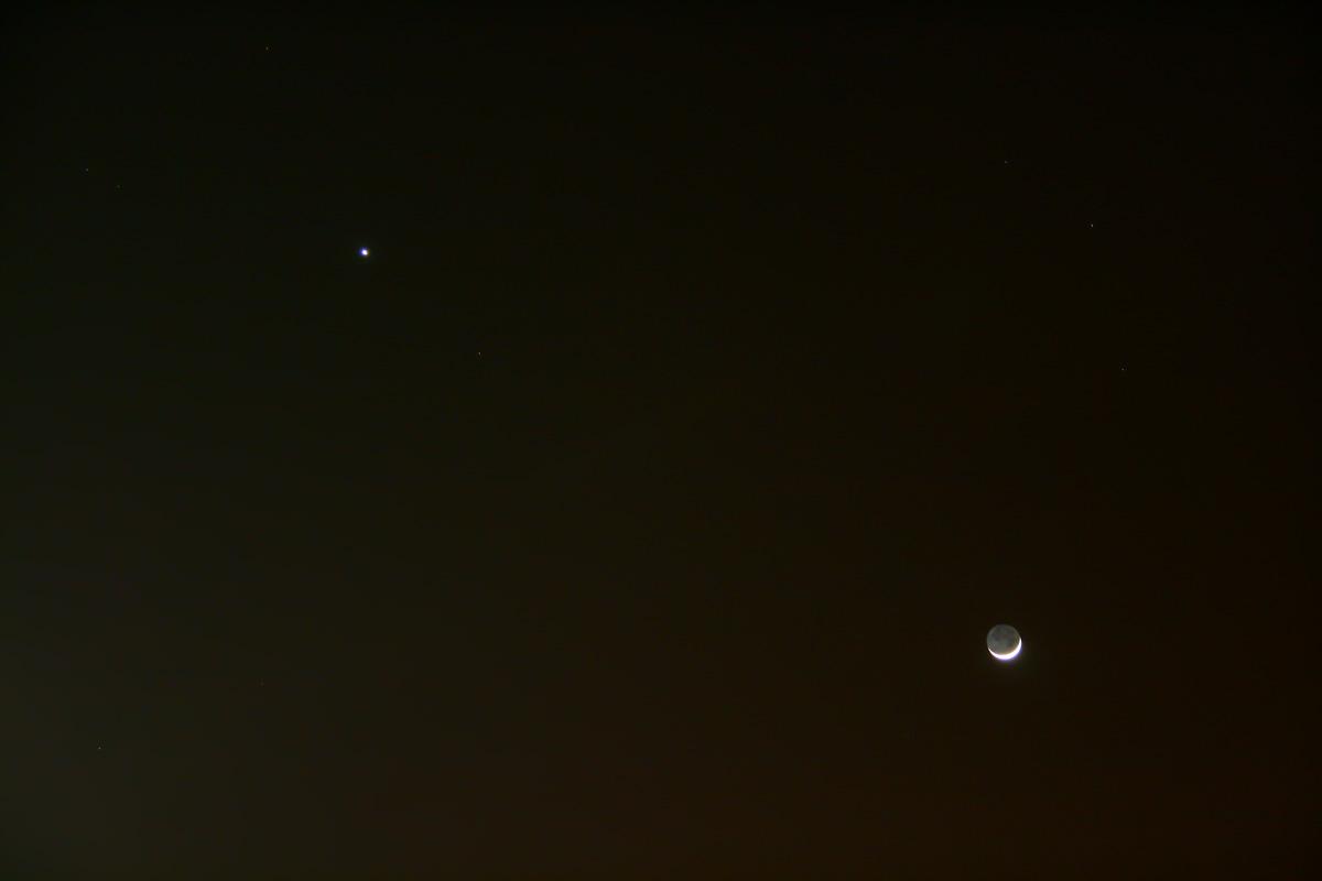 Conjunció lluna creixent i venus