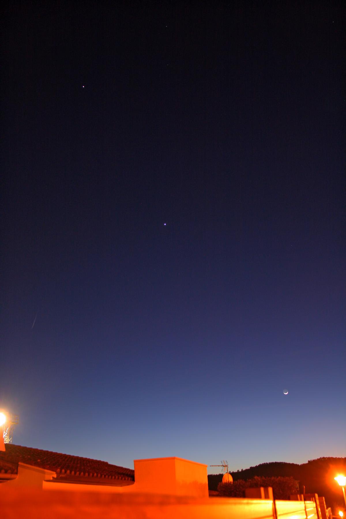 Júpiter, venus i la lluna