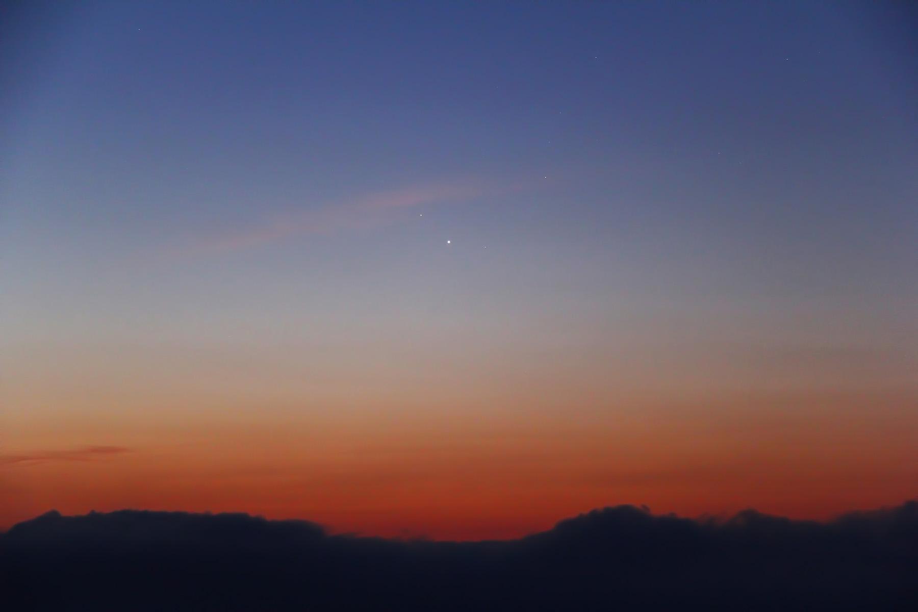 Conjunció Júpiter - Mart