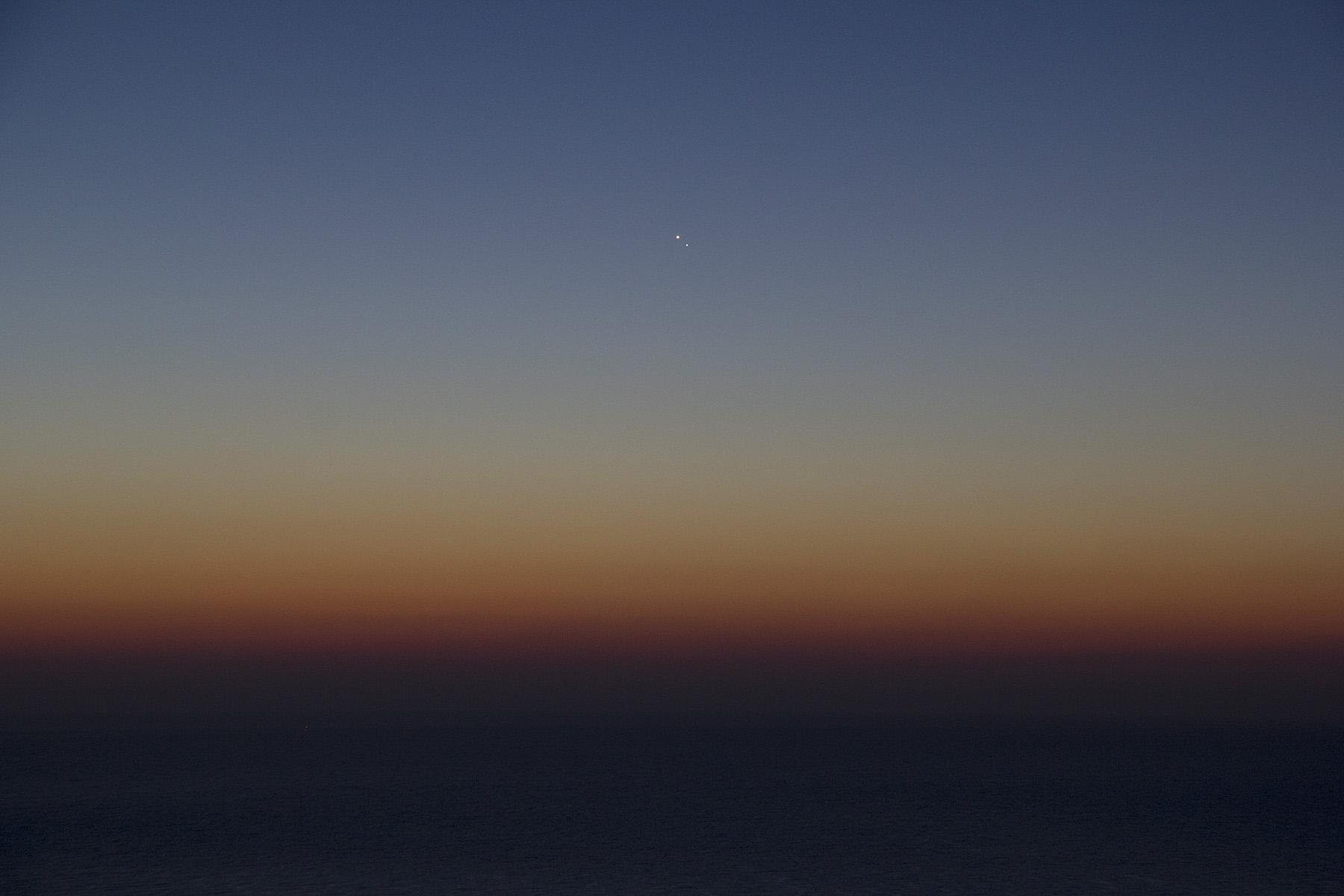 Conjunció venus - júpiter des del Far 2