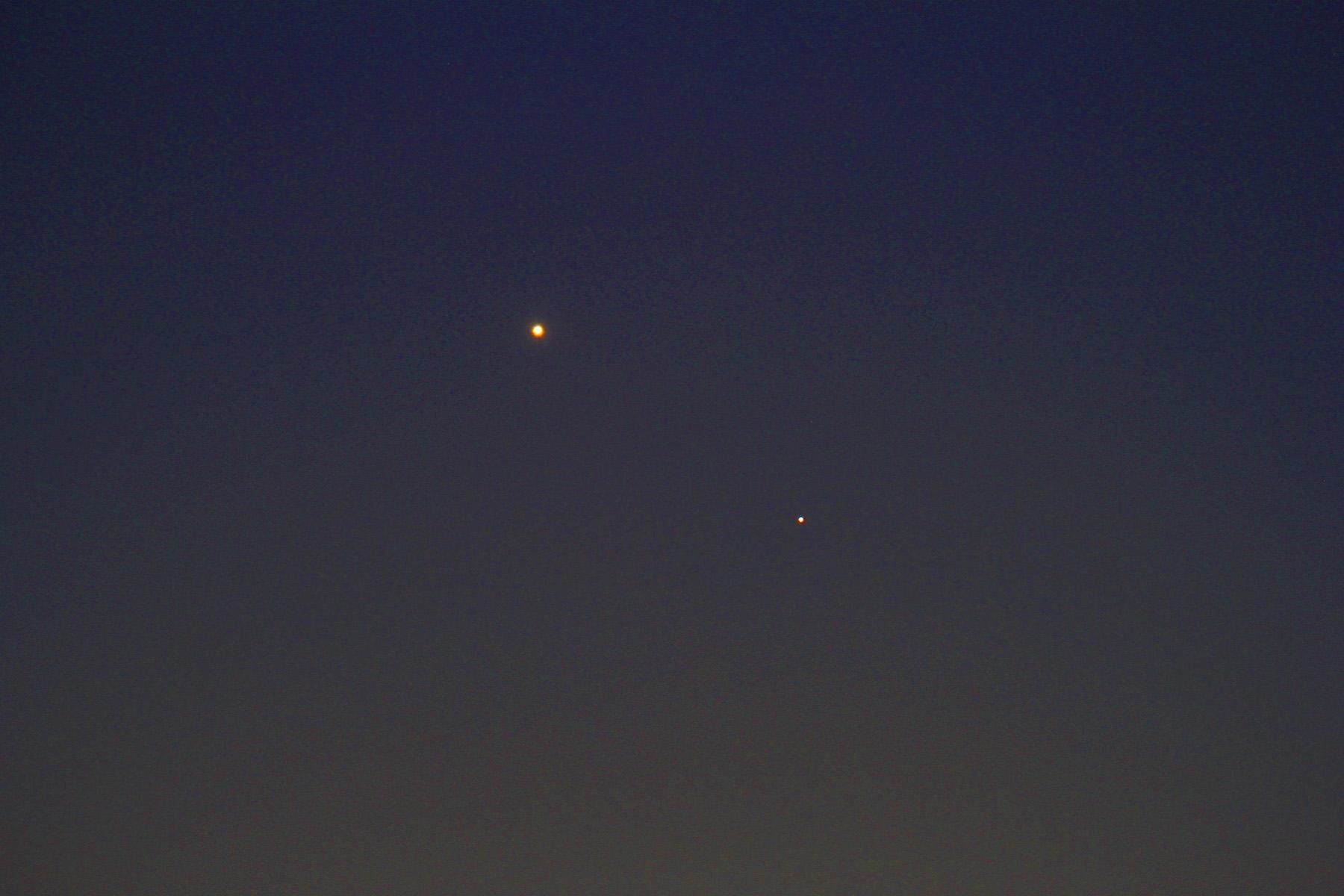 Conjunció venus - mercuri amb telescopi