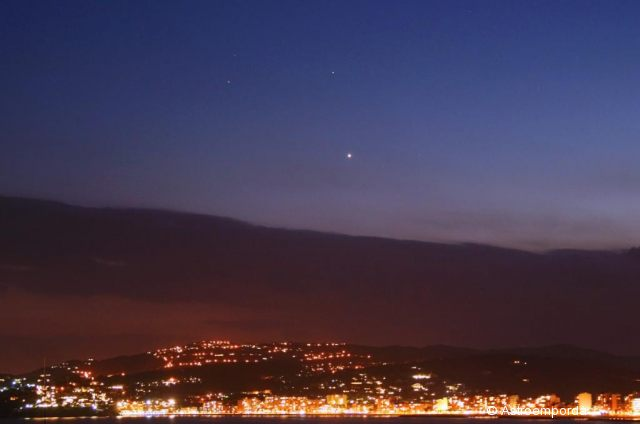 Conjunció Mart - Saturn - Venus