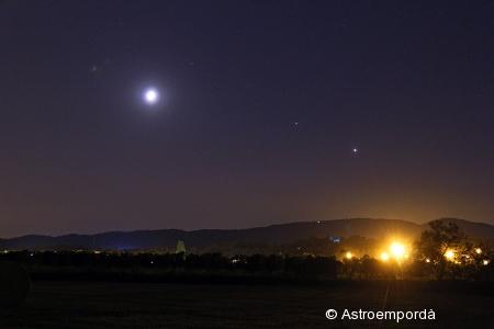 Conjunció Lluna - Júpiter - Venus