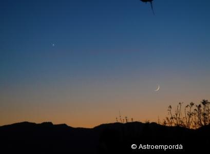 Conjunció Venus - Lluna Per la 8a trobada d'Agrupacions