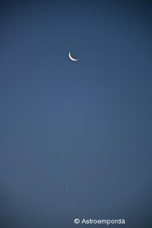 Júpiter amb la lluna, i venus