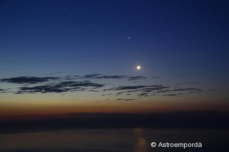 Mercuri, mart, júpiter i la lluna