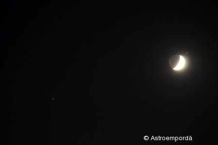 Conjunció lluna - saturn - mart