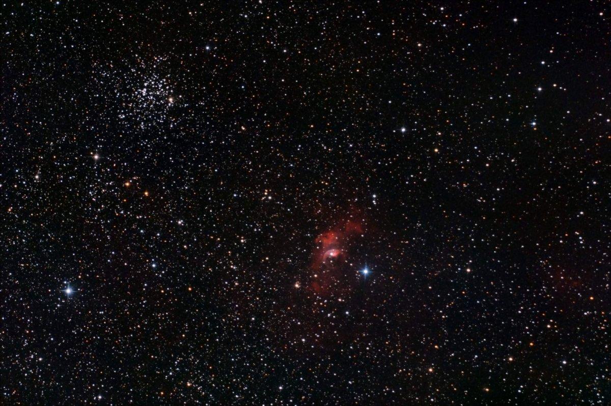 M 52 i la nebulosa de la bombolla NGC 7635