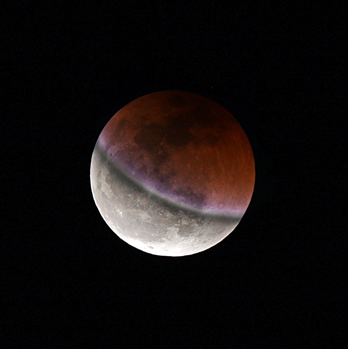 Muntatge fase parcial de l\'eclipsi de lluna