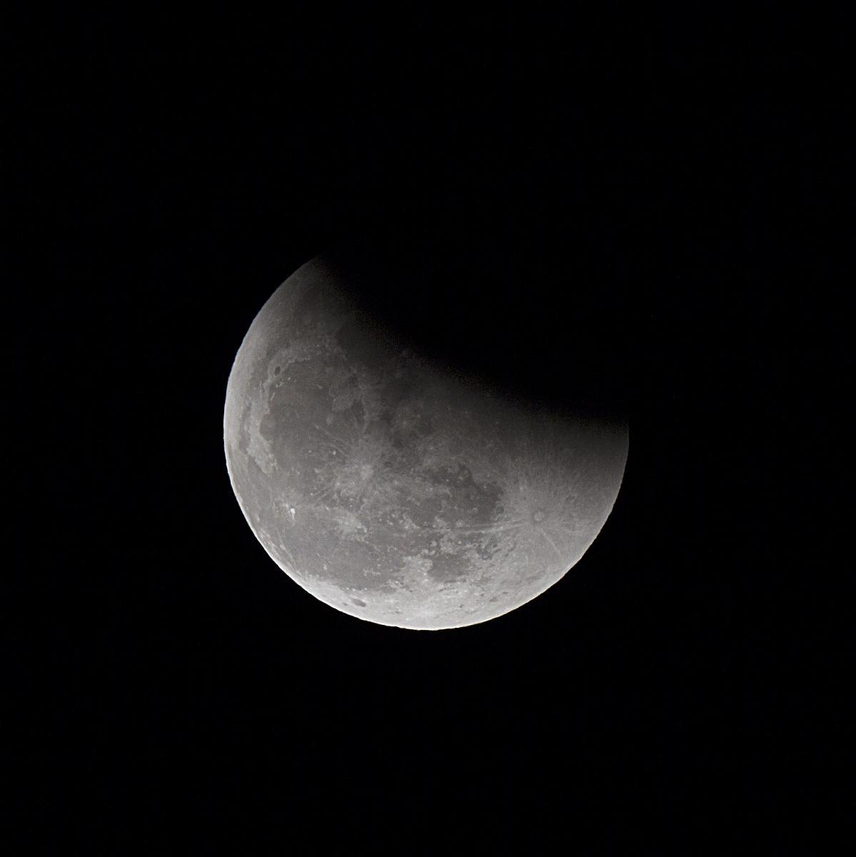 Eclipsi de lluna finalitzant