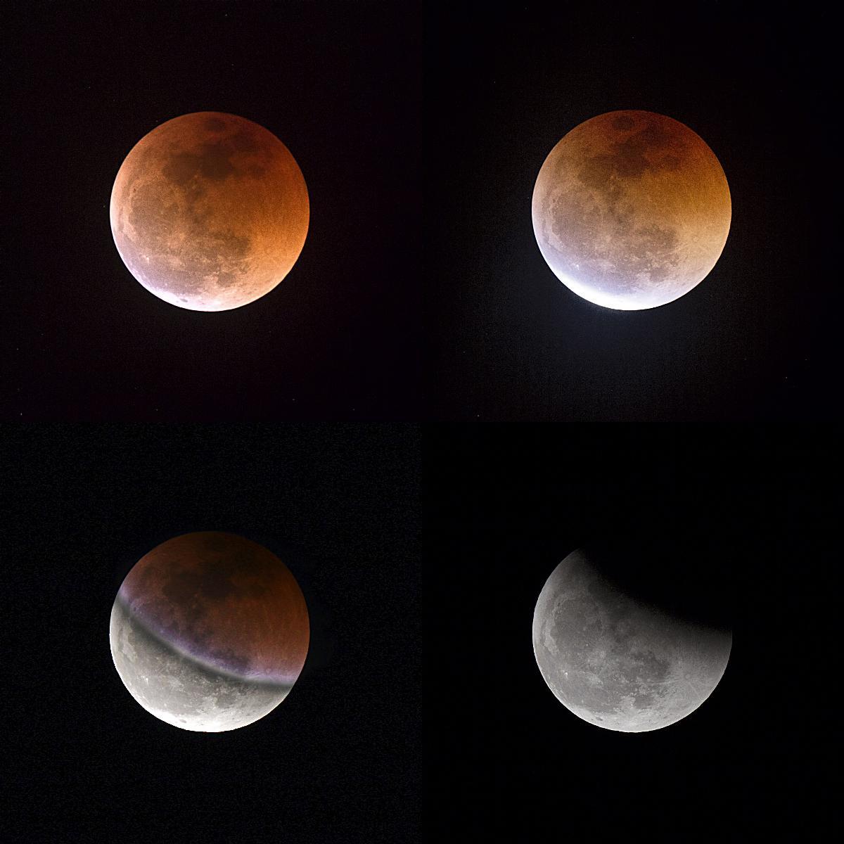 Muntatge de l\'eclipsi de lluna