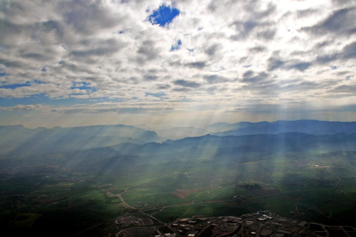 La plana de Vic des de l\'aire