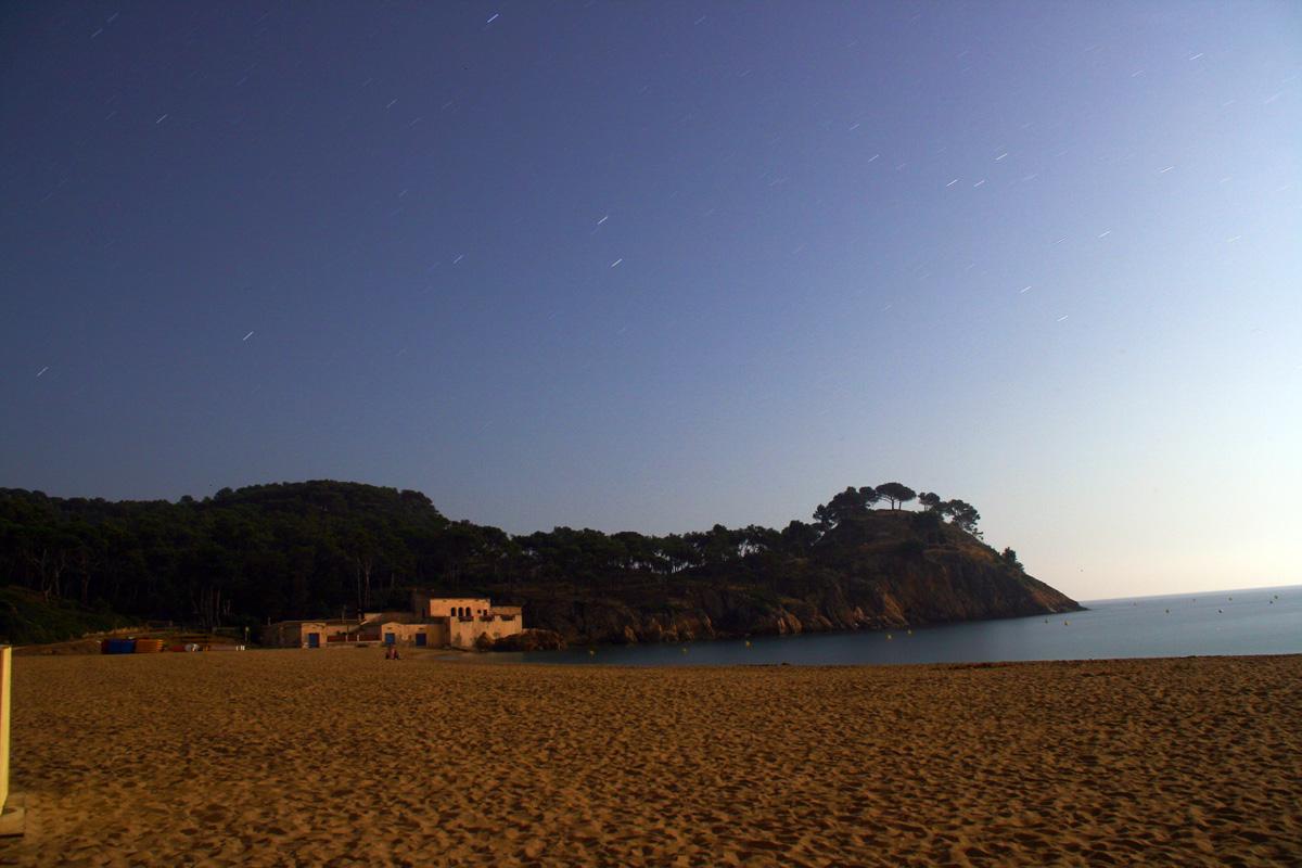 Castell amb llum de lluna