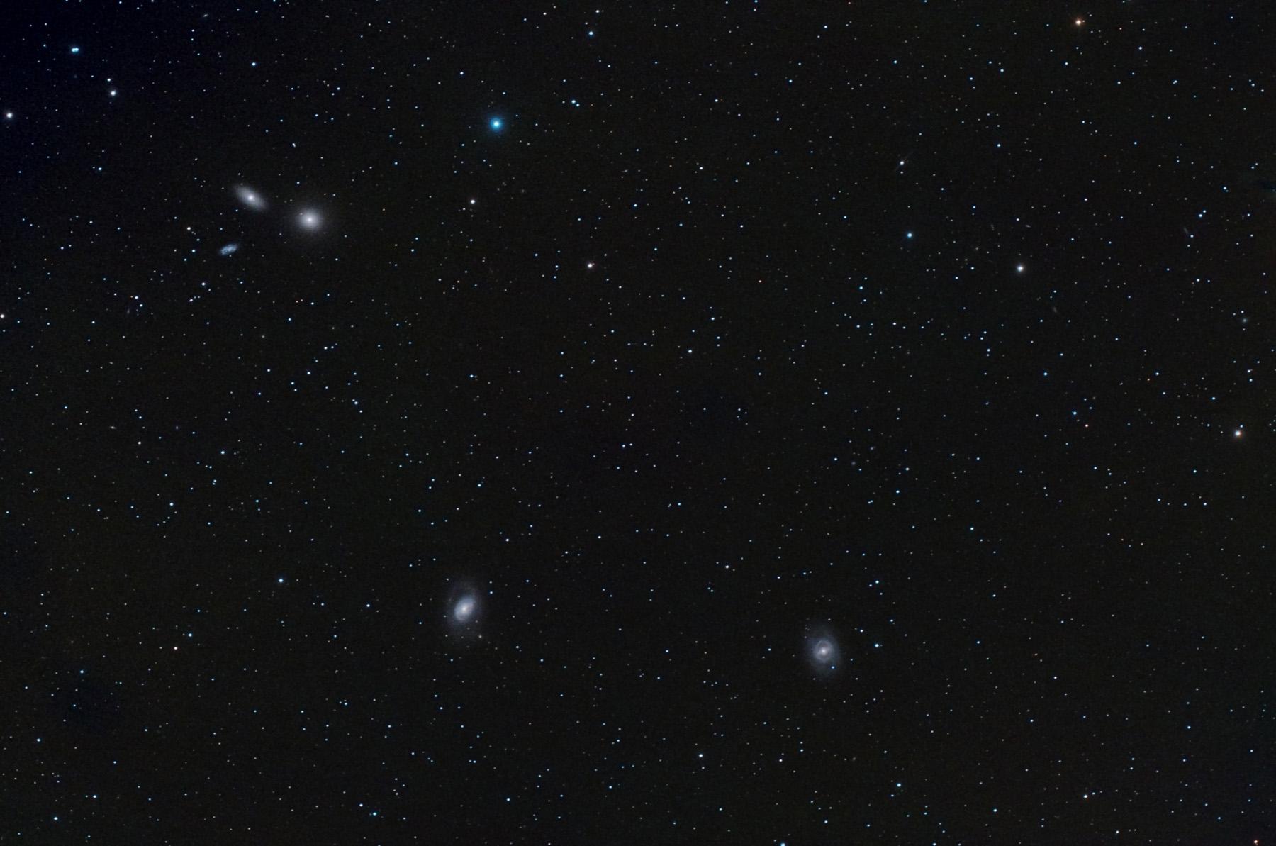 Supernova SN2012AW a M95, amb M96, M105 i NGC 3371 i 3389