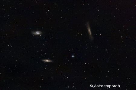 Triplet de Leo: M65, M66 i NGC 3628