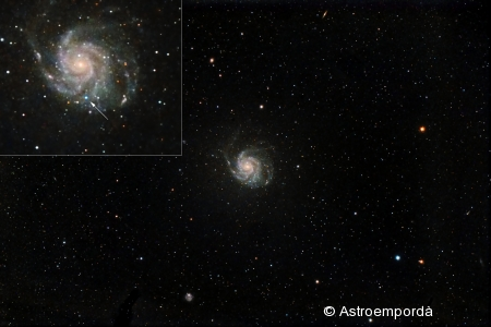 Supernova a M101