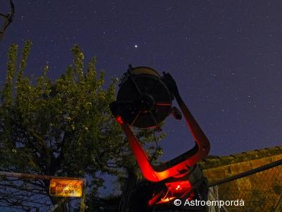 Telescopi C14 apuntant a Mart