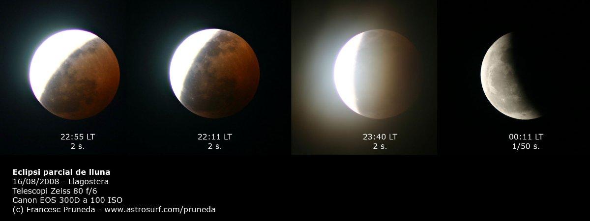Mosaic de l\'eclipsi parcial de lluna