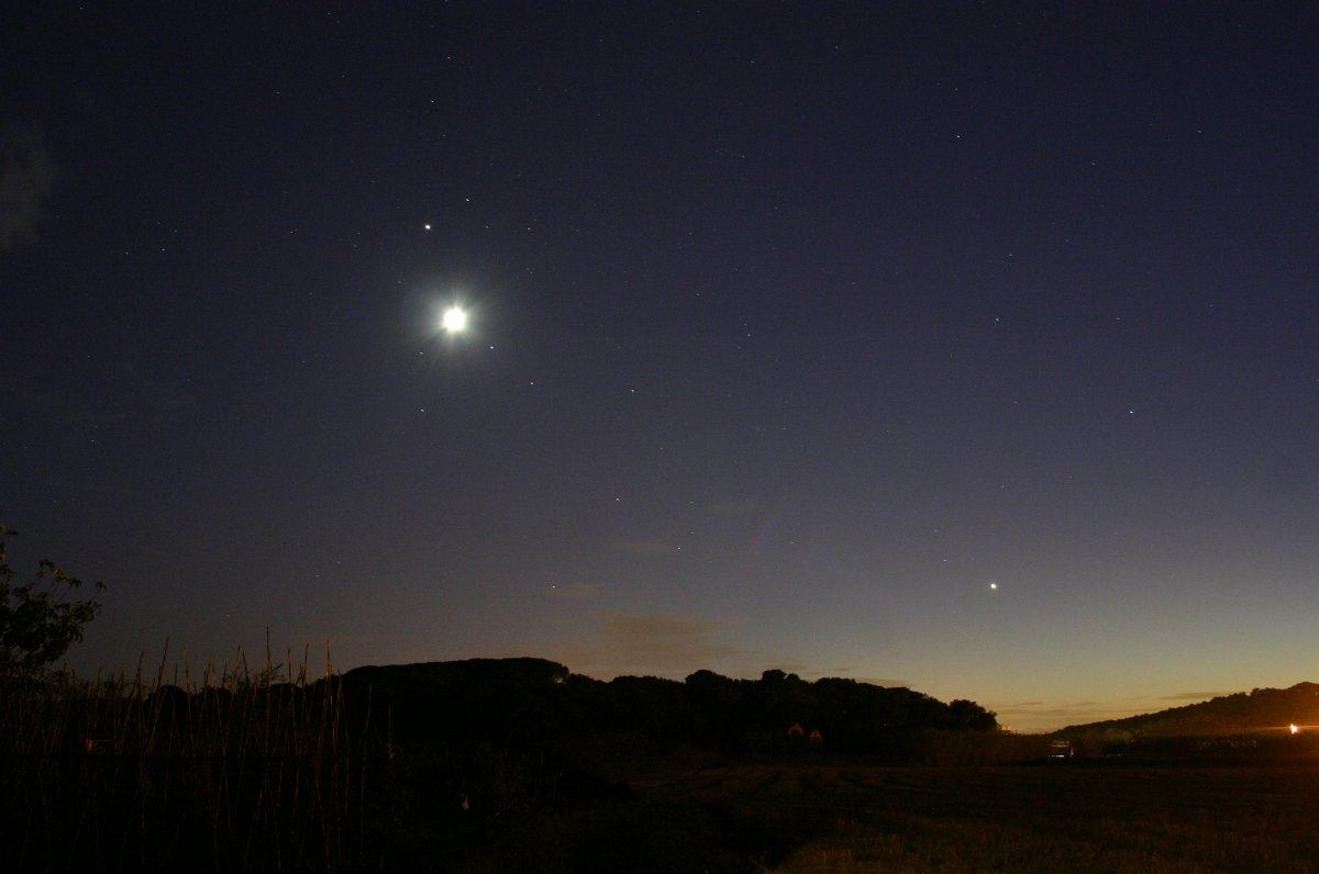 Conjunció Lluna - Júpiter i Venus