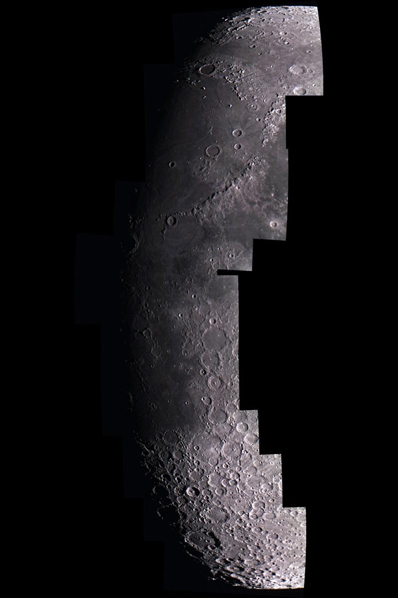 Mosaic del teminador de la lluna