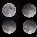 Eclipsi penombral, muntage 4 en 1
