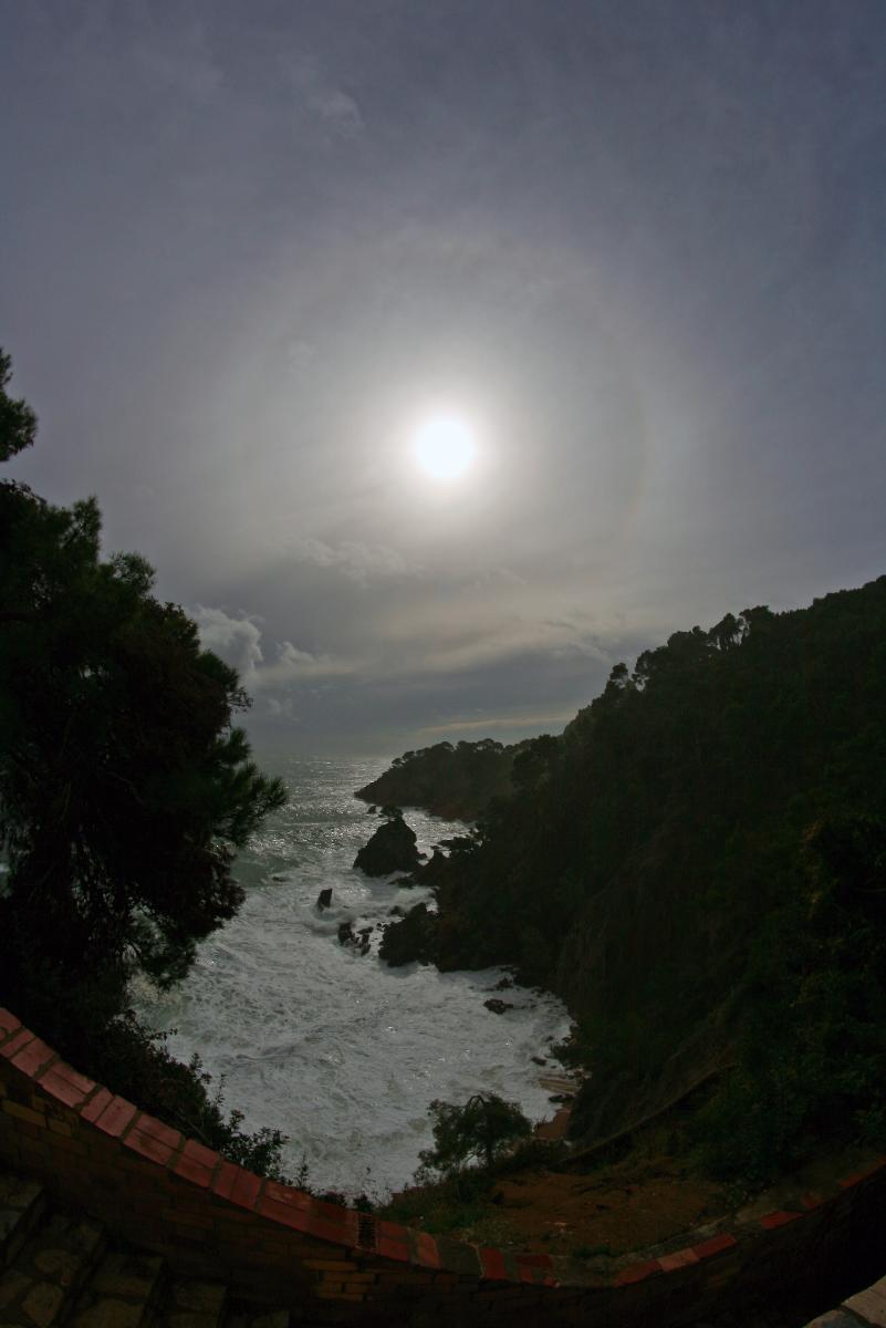 Halo solar durant el temporal
