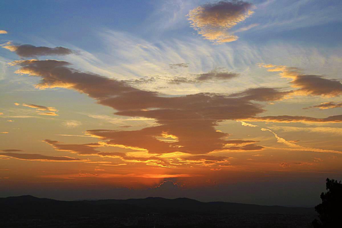Posta de sol des de Sant Sebastià