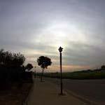 Halo solar des de Peratallada