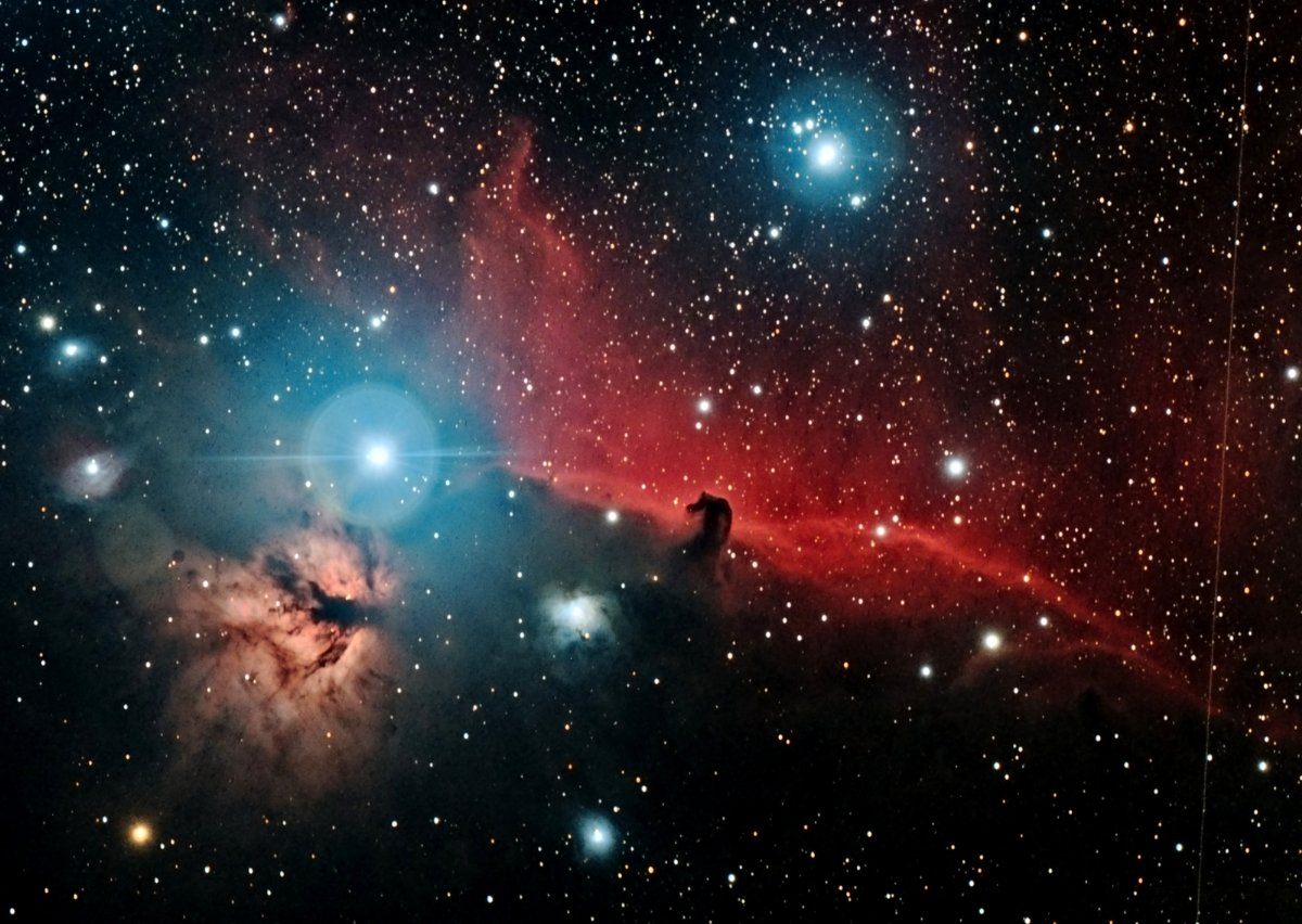 Nebulosa del cap de cavall B33 - IC434 i nebulosa de la flama NGC 2024