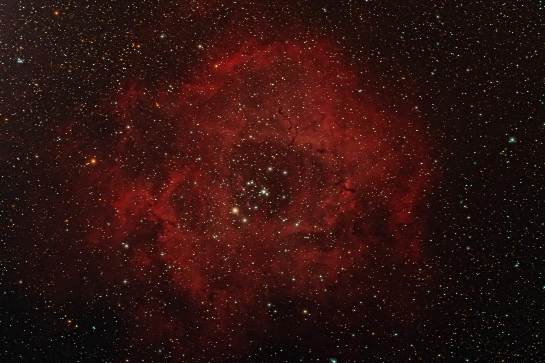 Nebulosa Roseta NGC 2237, NGC 2238, NGC 2239, NGC 2249, Sh2-275, Caldwell 49
