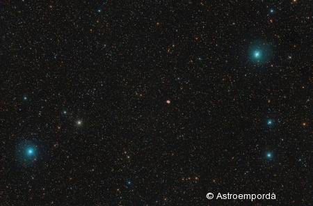 Nebulosa de l'anell M 57 a Lira.