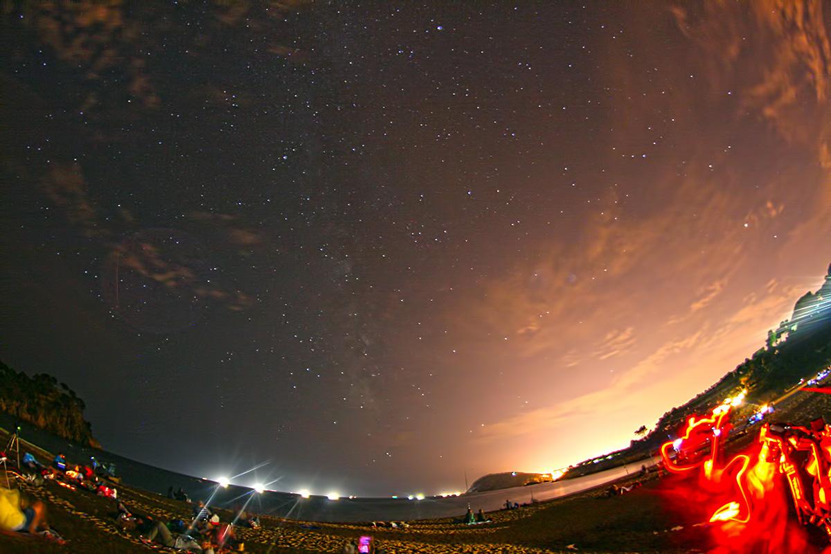 Observació de les perseides amb via làctea
