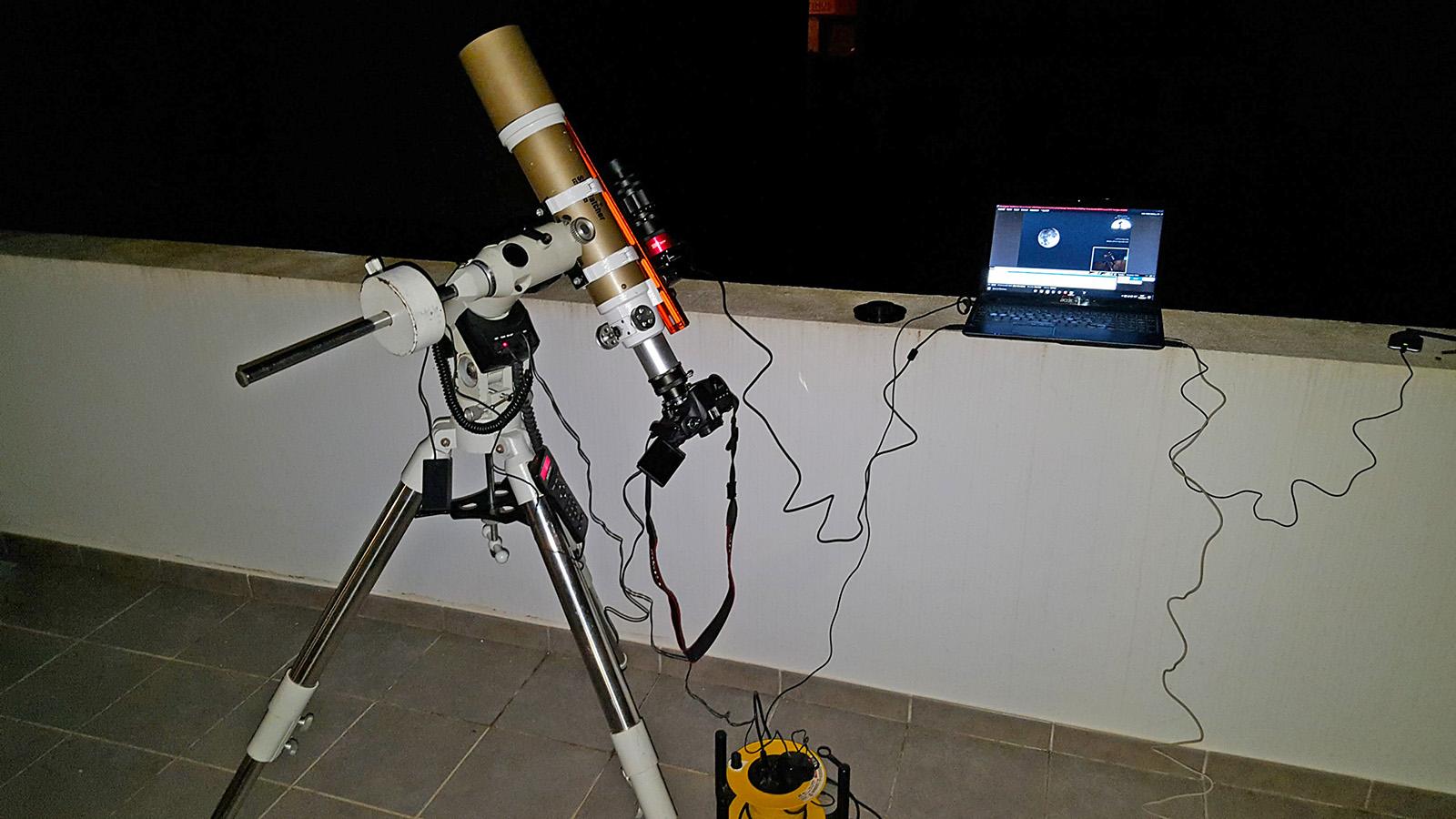 Muntatge per l'eclipsi penombral de lluna