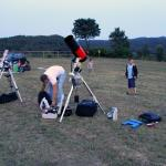 Preparant l'observació al CEIP Les Falgueras de Celrà